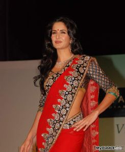 katrina kaif looking gorgeous in red sexy Saree photos